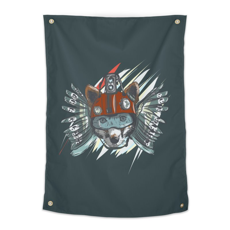 Wings of a Time Fox Home Tapestry by Time Machine Supplies