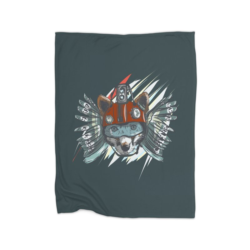 Wings of a Time Fox Home Fleece Blanket Blanket by Time Machine Supplies