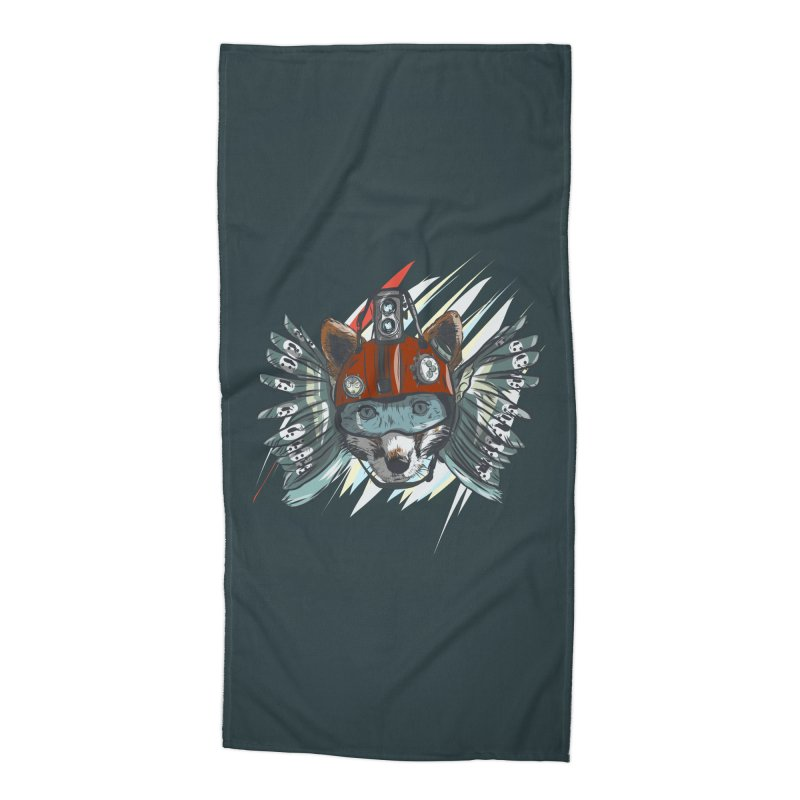 Wings of a Time Fox Accessories Beach Towel by Time Machine Supplies