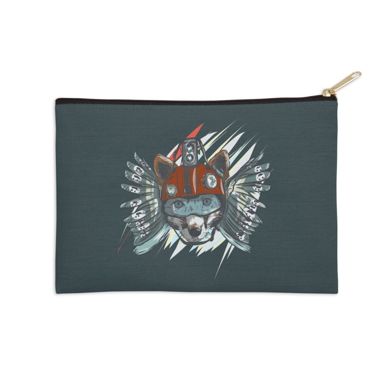 Wings of a Time Fox Accessories Zip Pouch by Time Machine Supplies