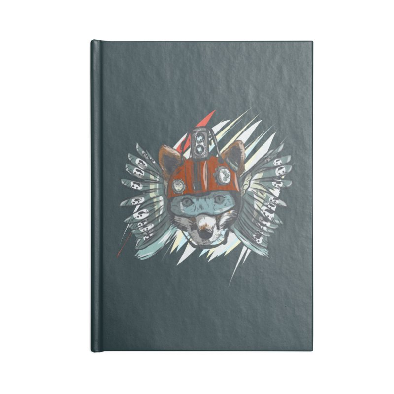 Wings of a Time Fox Accessories Blank Journal Notebook by Time Machine Supplies