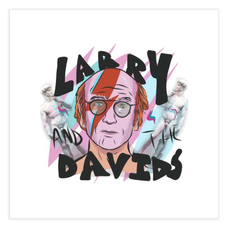 Larry and the Davids Home Fine Art Print by Time Machine Supplies