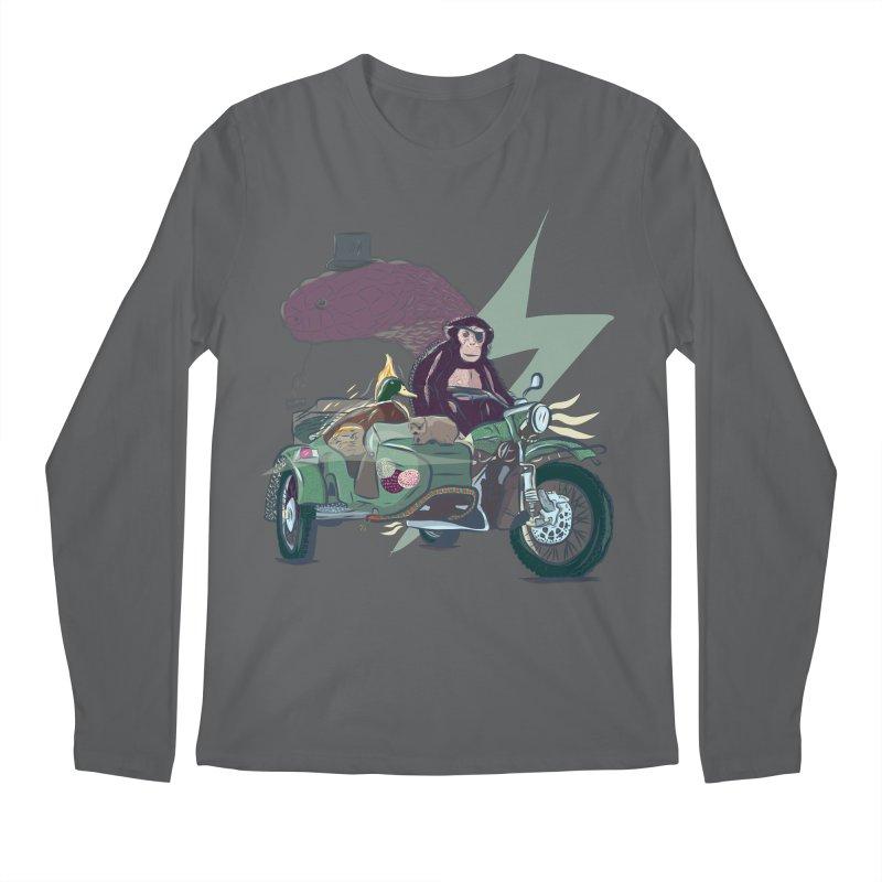 Crime Squad Men's Regular Longsleeve T-Shirt by Time Machine Supplies