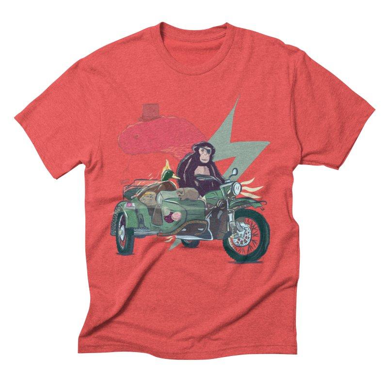 Crime Squad Men's Triblend T-Shirt by Time Machine Supplies