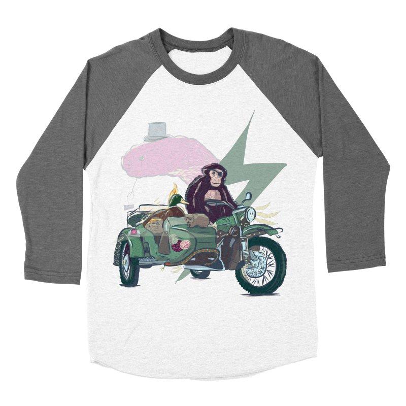 Crime Squad Men's Baseball Triblend Longsleeve T-Shirt by Time Machine Supplies