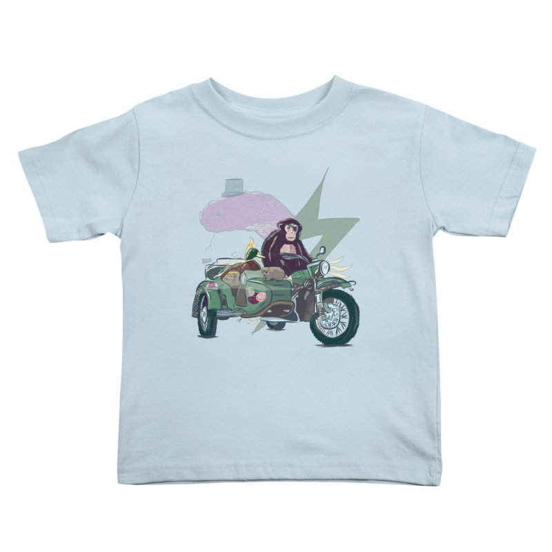 Crime Squad Kids Toddler T-Shirt by Time Machine Supplies