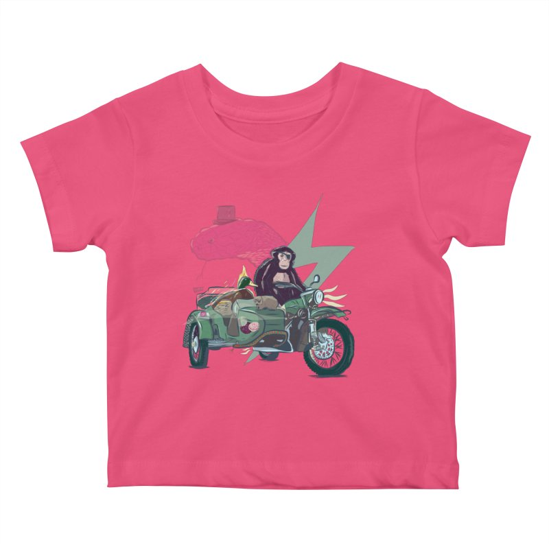 Crime Squad Kids Baby T-Shirt by Time Machine Supplies