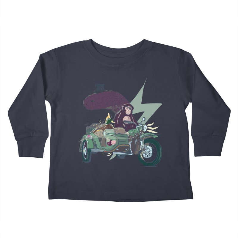 Crime Squad Kids Toddler Longsleeve T-Shirt by Time Machine Supplies