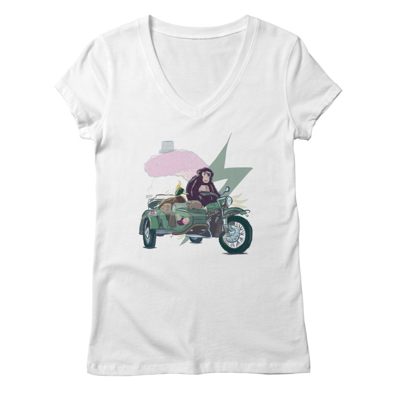 Crime Squad Women's Regular V-Neck by Time Machine Supplies