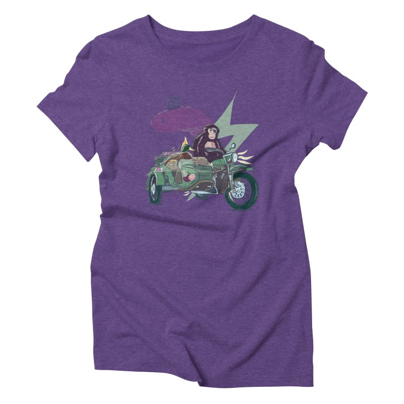 Crime Squad Women's Triblend T-Shirt by Time Machine Supplies