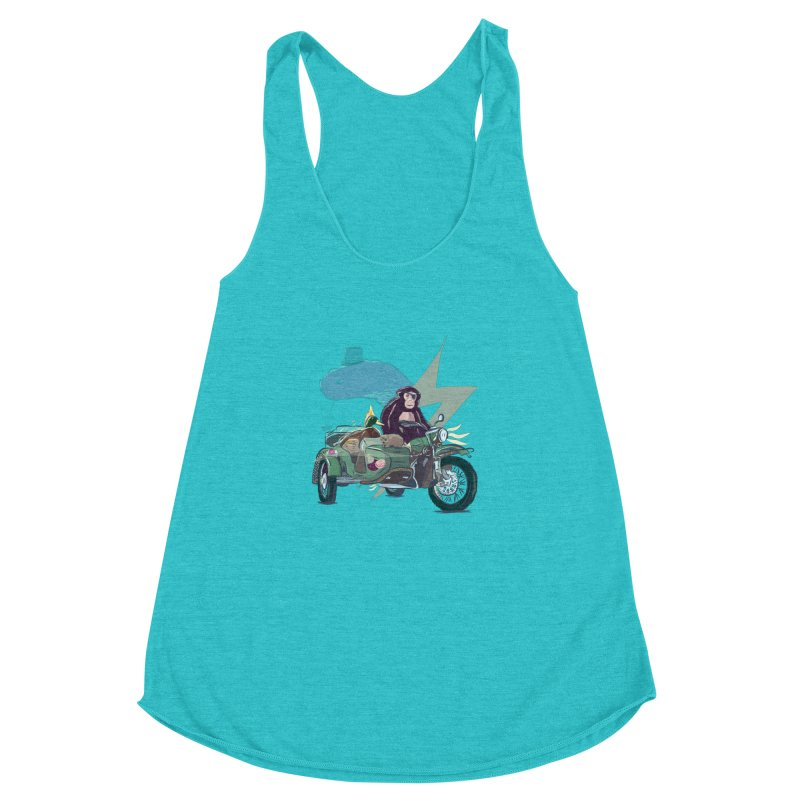 Crime Squad Women's Racerback Triblend Tank by Time Machine Supplies