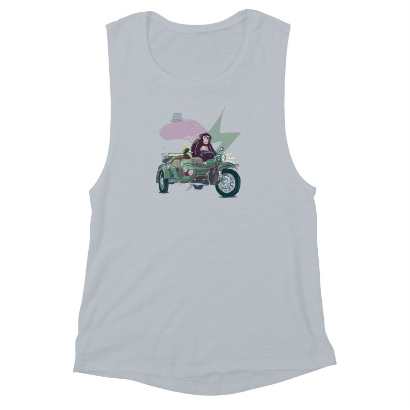 Crime Squad Women's Muscle Tank by Time Machine Supplies