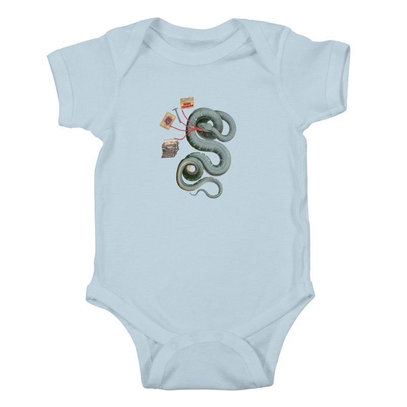 Snake Telegram Kids Baby Bodysuit by Time Machine Supplies