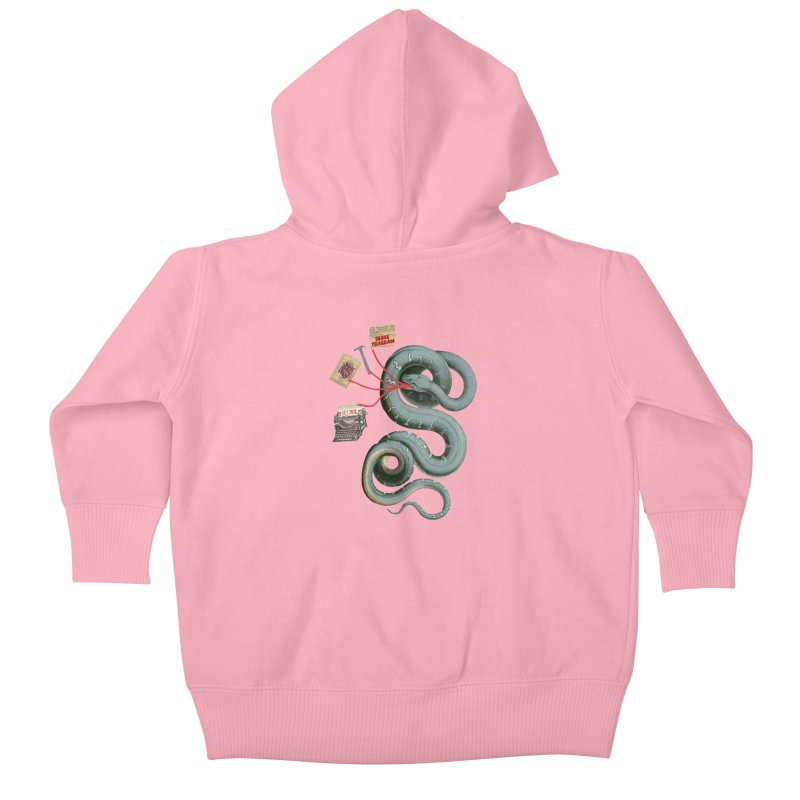 Snake Telegram Kids Baby Zip-Up Hoody by Time Machine Supplies
