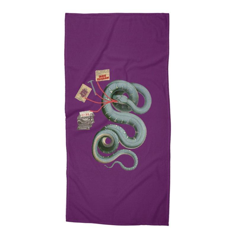 Snake Telegram Accessories Beach Towel by Time Machine Supplies