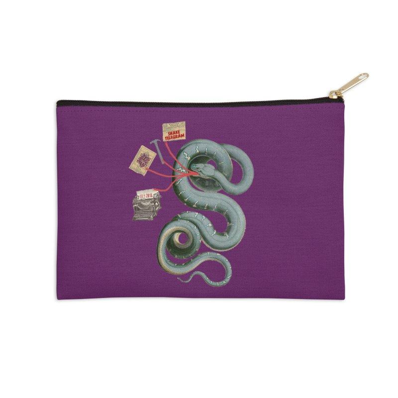 Snake Telegram Accessories Zip Pouch by Time Machine Supplies