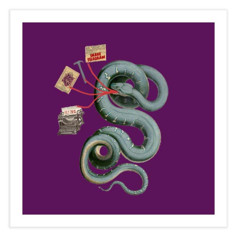 Snake Telegram Home Fine Art Print by Time Machine Supplies