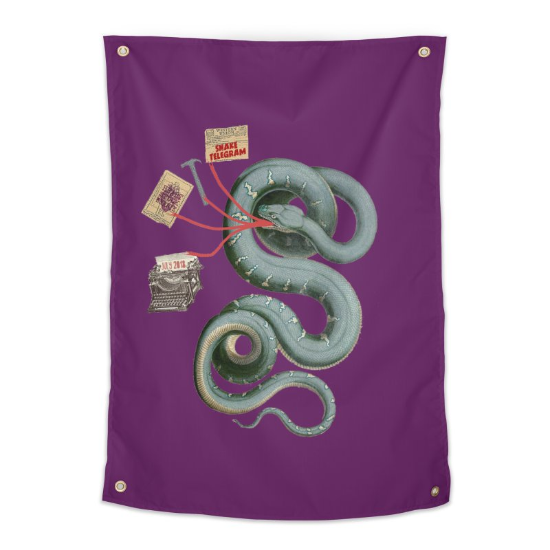 Snake Telegram Home Tapestry by Time Machine Supplies