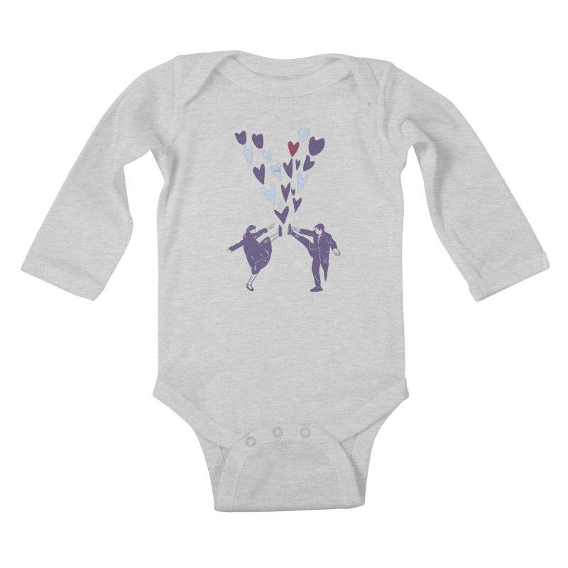 Kicks Kids Baby Longsleeve Bodysuit by Time Machine Supplies