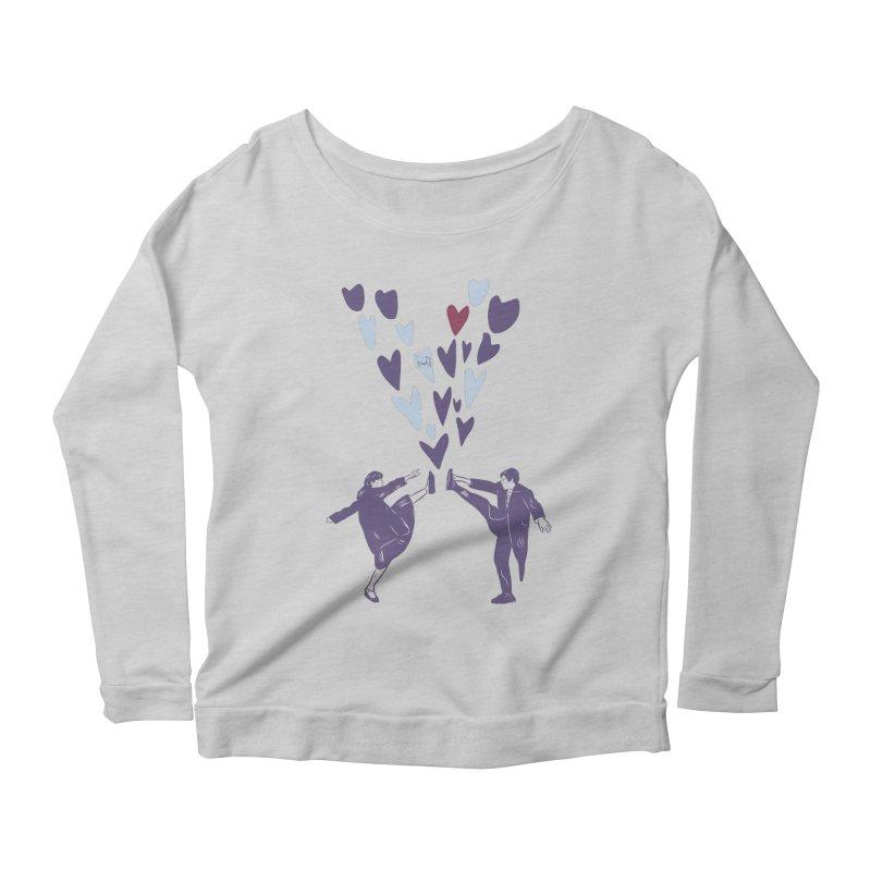 Kicks Women's Scoop Neck Longsleeve T-Shirt by Time Machine Supplies