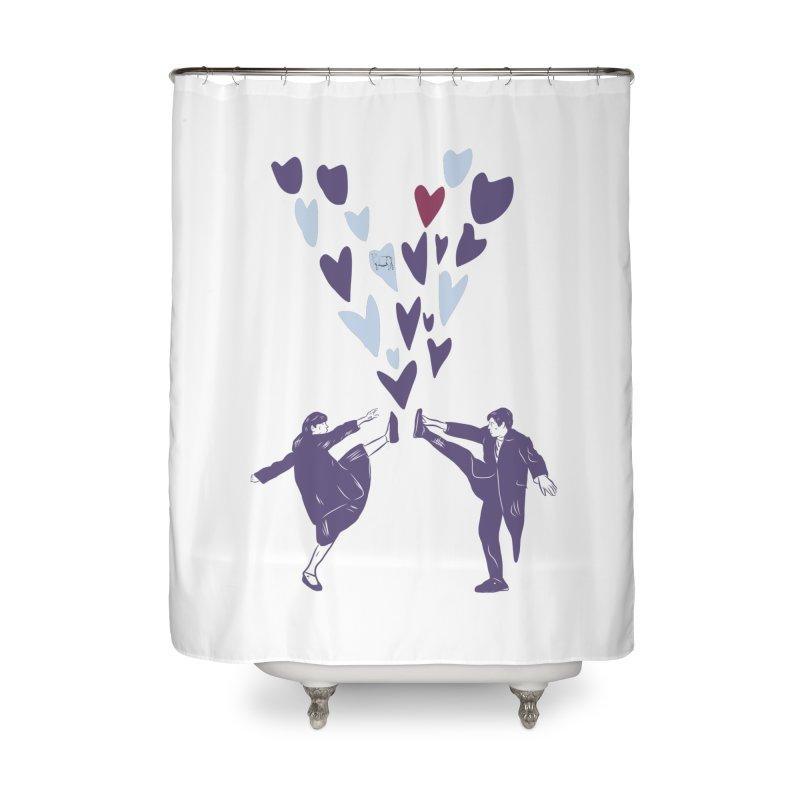 Kicks Home Shower Curtain by Time Machine Supplies