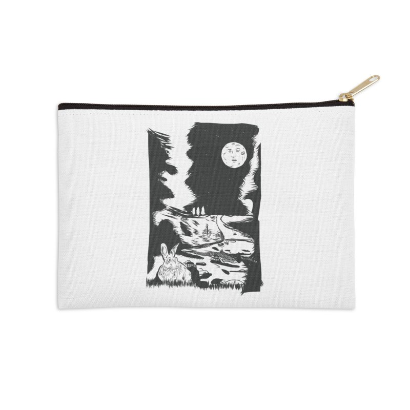 The Moon and the Rabbit Accessories Zip Pouch by Time Machine Supplies