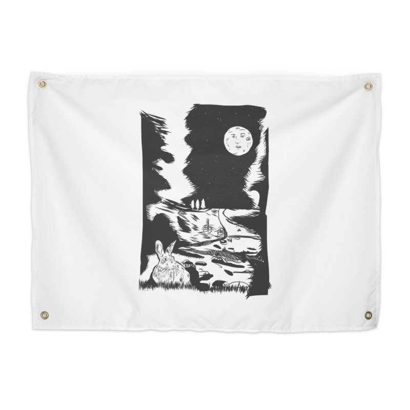 The Moon and the Rabbit Home Tapestry by Time Machine Supplies