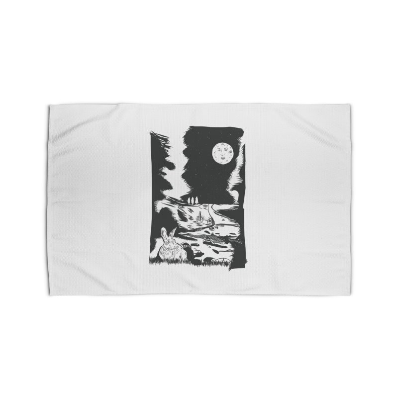 The Moon and the Rabbit Home Rug by Time Machine Supplies