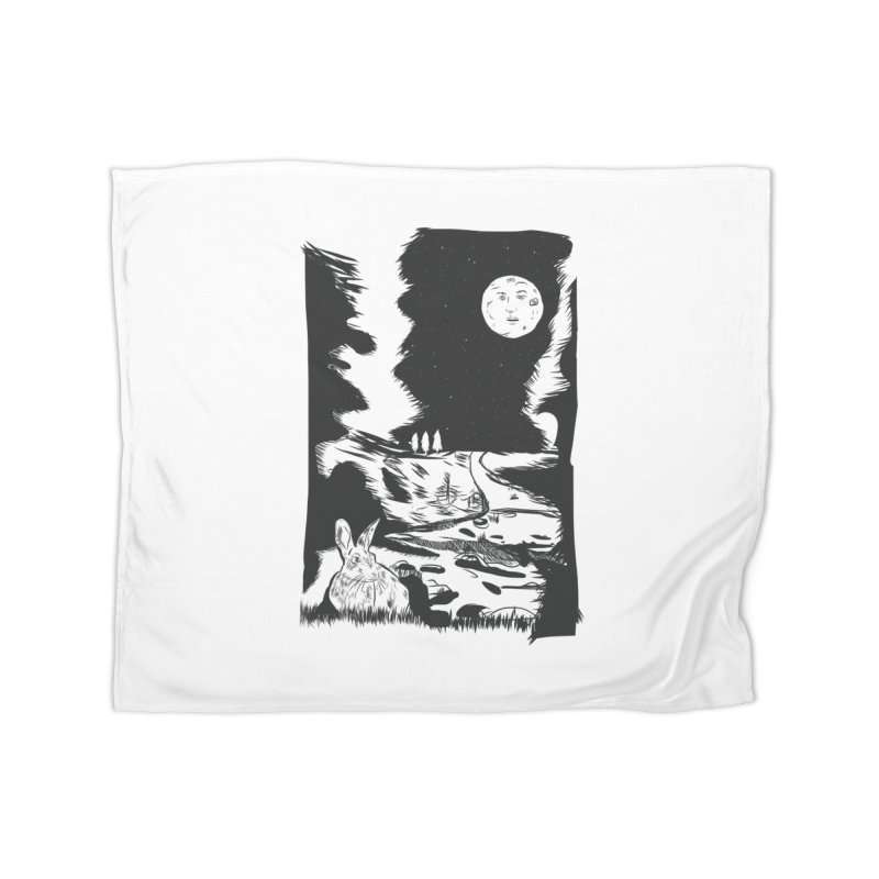 The Moon and the Rabbit Home Blanket by Time Machine Supplies
