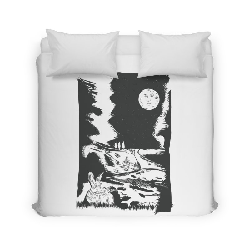 The Moon and the Rabbit Home Duvet by Time Machine Supplies