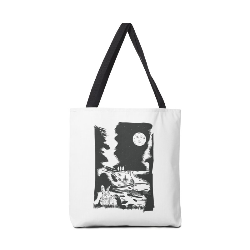 The Moon and the Rabbit Accessories Tote Bag Bag by Time Machine Supplies