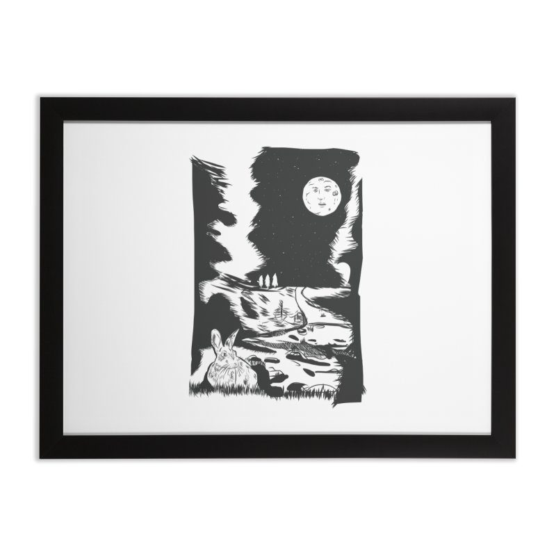 The Moon and the Rabbit Home Framed Fine Art Print by Time Machine Supplies