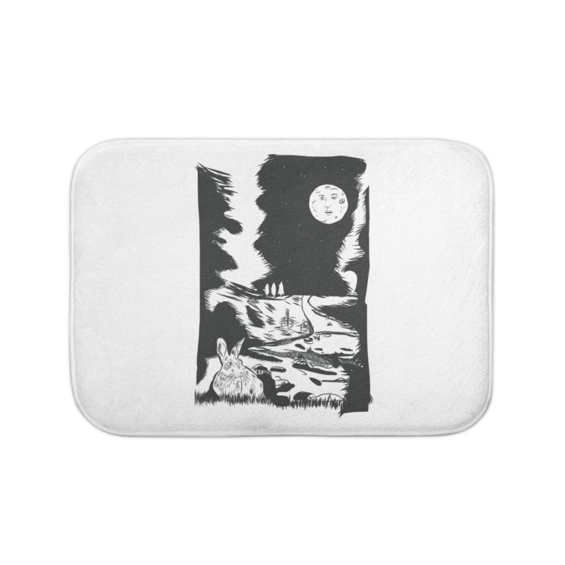 The Moon and the Rabbit Home Bath Mat by Time Machine Supplies