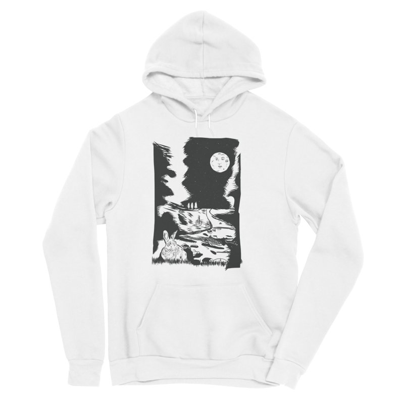 The Moon and the Rabbit Women's Sponge Fleece Pullover Hoody by Time Machine Supplies