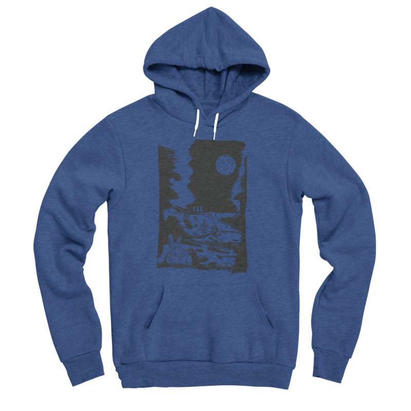 The Moon and the Rabbit Men's Sponge Fleece Pullover Hoody by Time Machine Supplies
