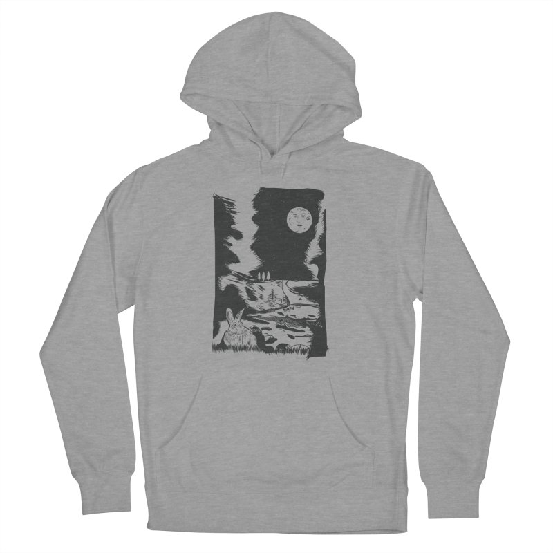 The Moon and the Rabbit Women's French Terry Pullover Hoody by Time Machine Supplies