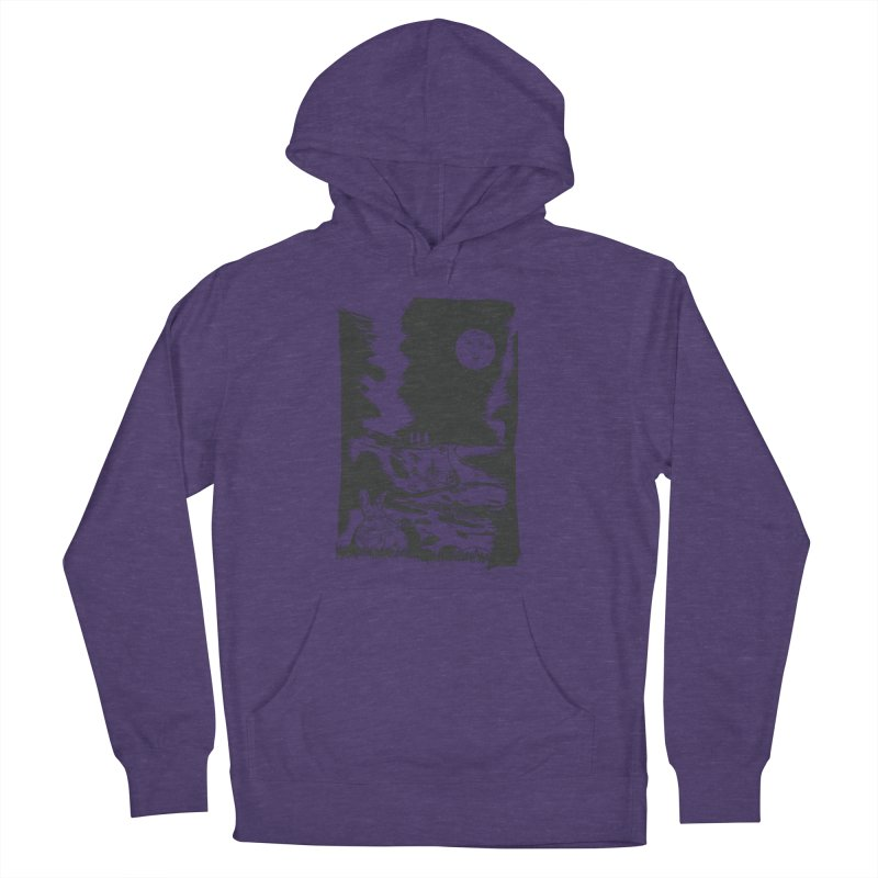 The Moon and the Rabbit Men's French Terry Pullover Hoody by Time Machine Supplies