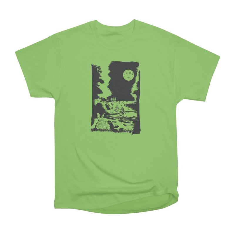 The Moon and the Rabbit Men's Heavyweight T-Shirt by Time Machine Supplies