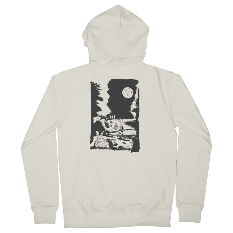 The Moon and the Rabbit Men's French Terry Zip-Up Hoody by Time Machine Supplies