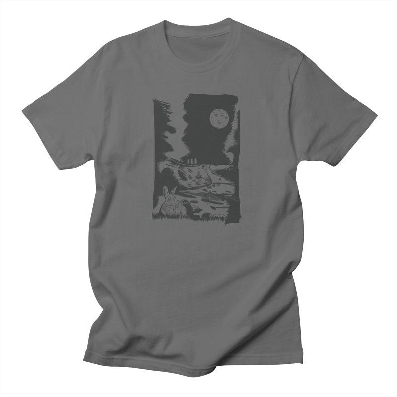 The Moon and the Rabbit Women's Regular Unisex T-Shirt by Time Machine Supplies
