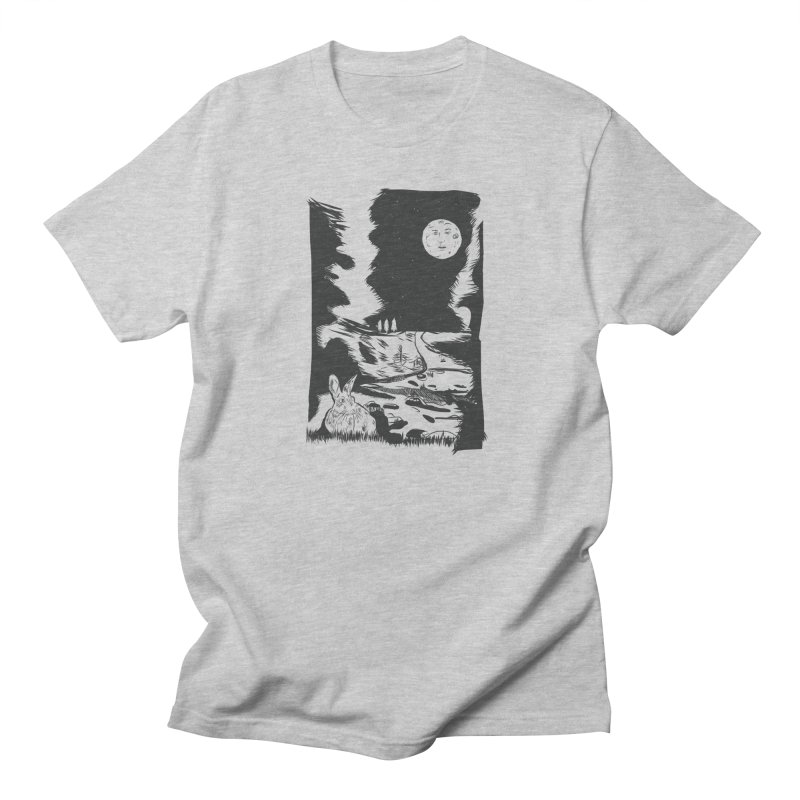 The Moon and the Rabbit Men's Regular T-Shirt by Time Machine Supplies