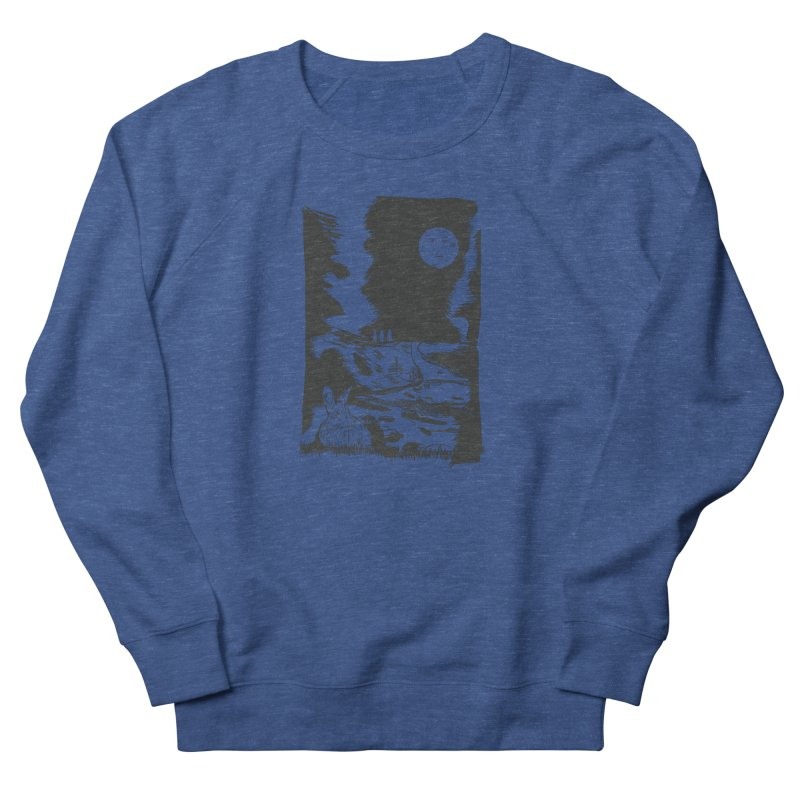 The Moon and the Rabbit Women's French Terry Sweatshirt by Time Machine Supplies