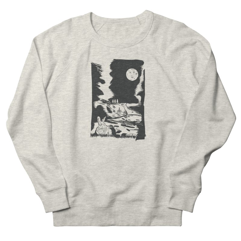 The Moon and the Rabbit Men's French Terry Sweatshirt by Time Machine Supplies
