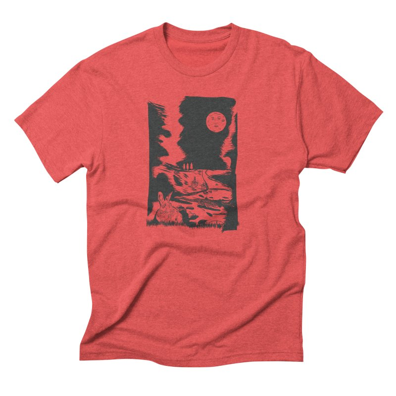 The Moon and the Rabbit Men's Triblend T-Shirt by Time Machine Supplies