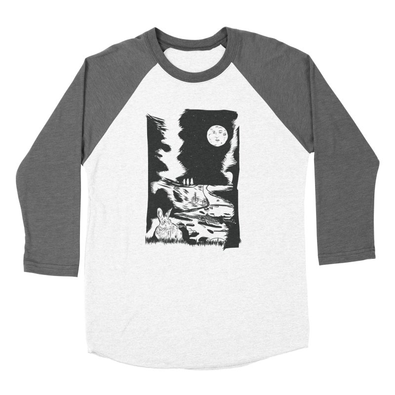 The Moon and the Rabbit Women's Baseball Triblend Longsleeve T-Shirt by Time Machine Supplies