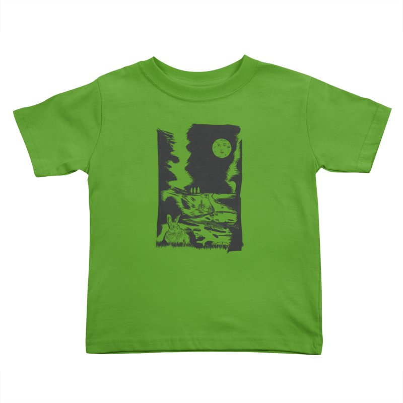 The Moon and the Rabbit Kids Toddler T-Shirt by Time Machine Supplies