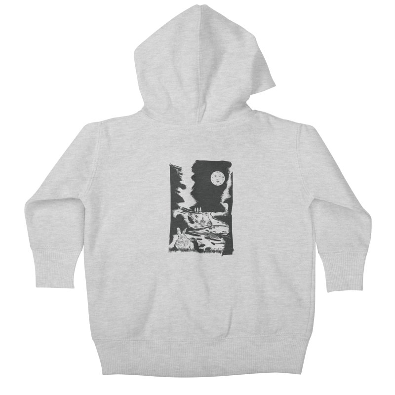 The Moon and the Rabbit Kids Baby Zip-Up Hoody by Time Machine Supplies
