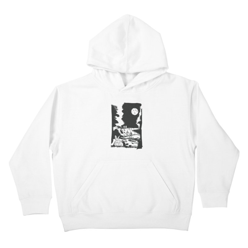 The Moon and the Rabbit Kids Pullover Hoody by Time Machine Supplies