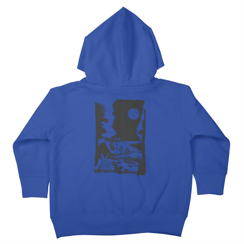 The Moon and the Rabbit Kids Toddler Zip-Up Hoody by Time Machine Supplies
