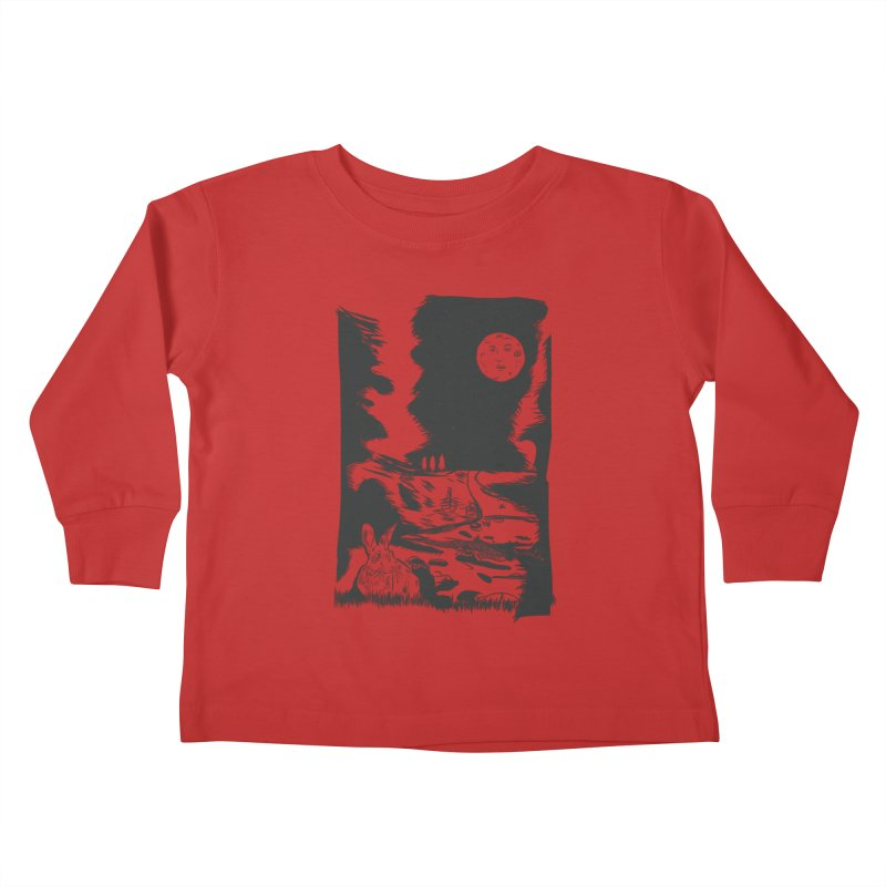 The Moon and the Rabbit Kids Toddler Longsleeve T-Shirt by Time Machine Supplies